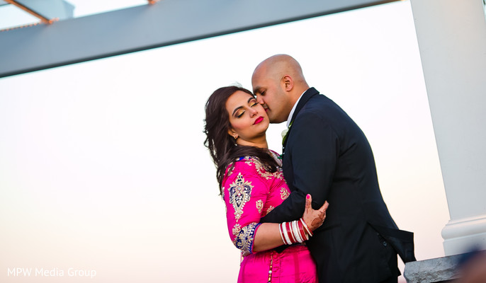 Reception Portrait in New Rochelle, NY Indian Wedding by MPW Media Group