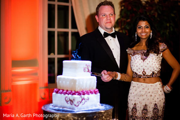 Reception in Broomall, PA Indian Fusion Wedding by Maria A. Garth Photography