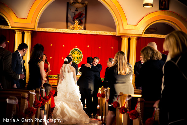 Ceremony in Broomall, PA Indian Fusion Wedding by Maria A. Garth Photography