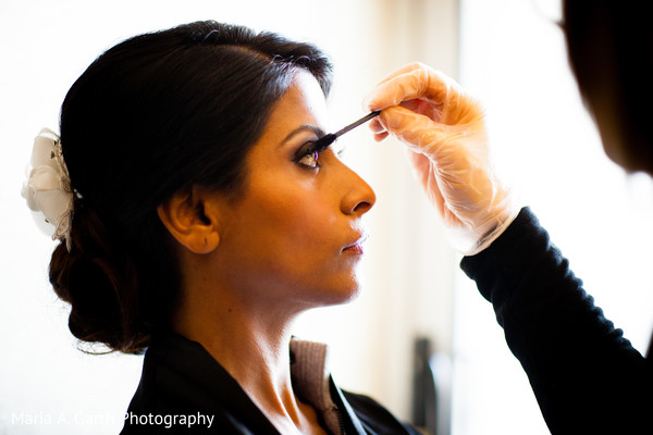 Getting Ready in Broomall, PA Indian Fusion Wedding by Maria A. Garth Photography