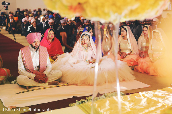 Ceremony in Scottsdale, AZ Sikh Wedding by Ushna Khan Photography