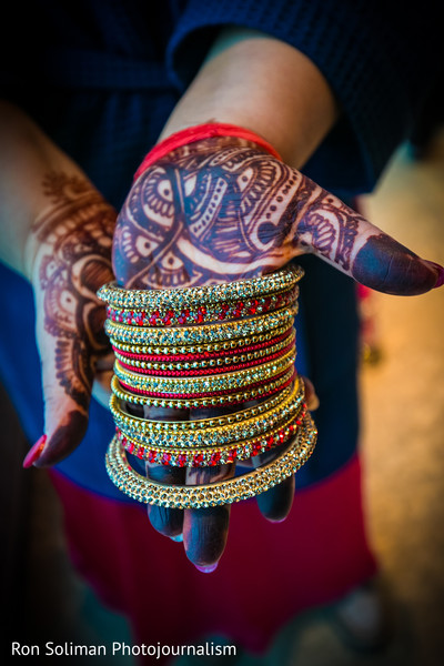 Bridal Bangles in Atlantic City, NJ Indian Wedding by Ron Soliman Photojournalism