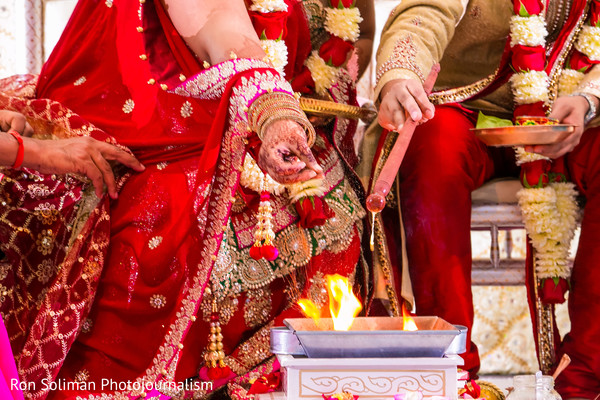 Ceremony in Atlantic City, NJ Indian Wedding by Ron Soliman Photojournalism