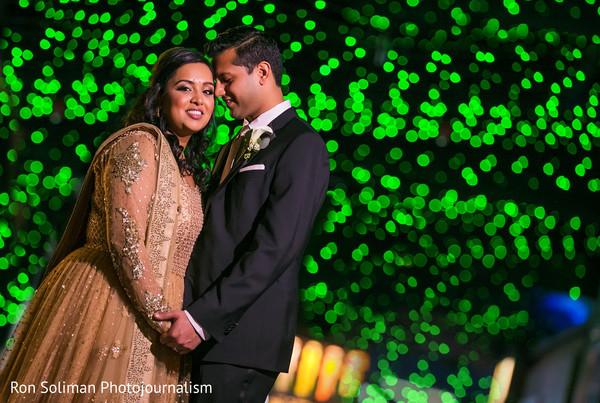 Reception Portrait in Atlantic City, NJ Indian Wedding by Ron Soliman Photojournalism