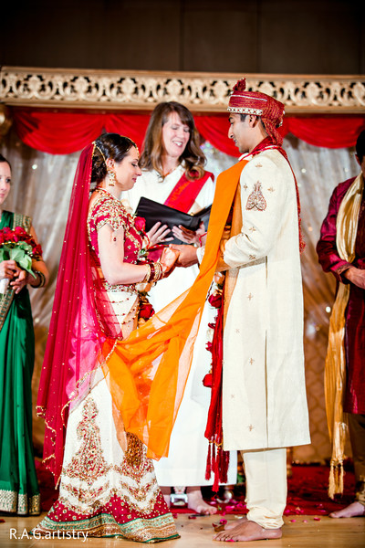 Ceremony in Statesboro, GA Indian Fusion Wedding by R.A.G.artistry