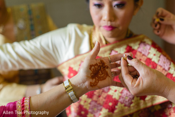 Getting Ready in Miramar Beach, FL Buddhist Hindu Fusion Wedding by Allen Tsai Photography