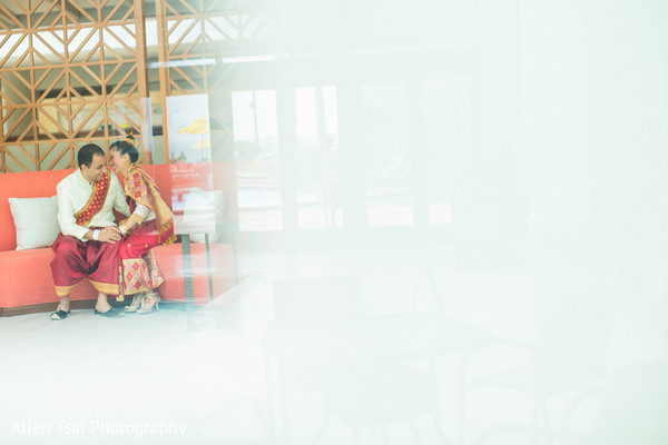 First Look in Miramar Beach, FL Buddhist Hindu Fusion Wedding by Allen Tsai Photography