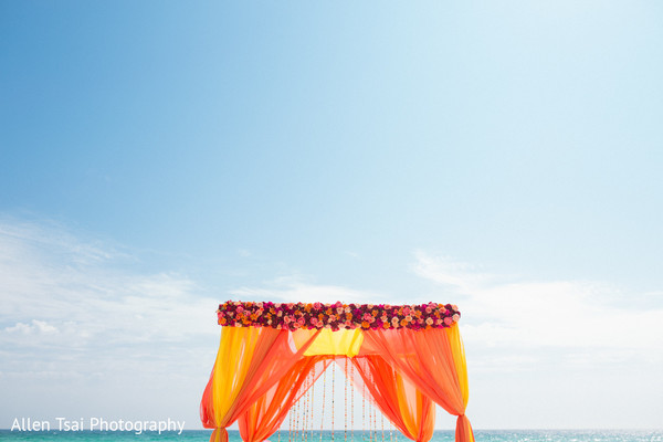 Floral & Decor in Miramar Beach, FL Buddhist Hindu Fusion Wedding by Allen Tsai Photography