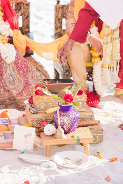 Ceremony in Miramar Beach, FL Buddhist Hindu Fusion Wedding by Allen Tsai Photography