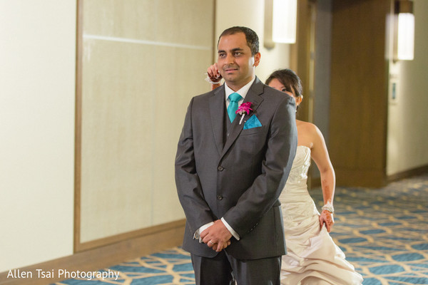 Reception Portrait in Miramar Beach, FL Buddhist Hindu Fusion Wedding by Allen Tsai Photography