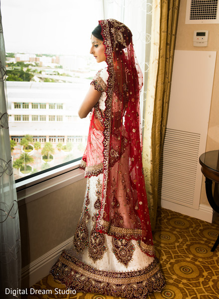 Bridal Portrait in Tampa, FL Indian Wedding by Digital Dream Studio