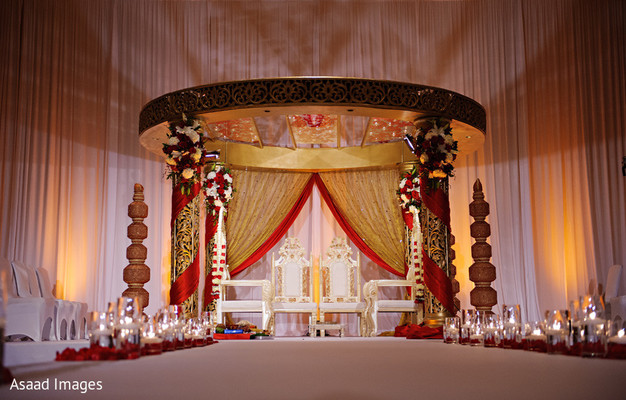 ceremony,floral and decor,venue,mandap