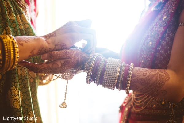 Getting Ready in Bridgewater, NJ Indian Wedding by Lightyear Studio