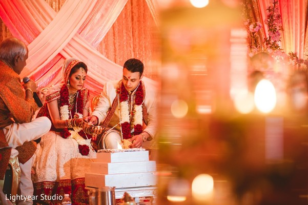 Ceremony in Bridgewater, NJ Indian Wedding by Lightyear Studio