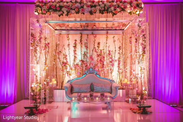 sweetheart stage,indian wedding floral and decor