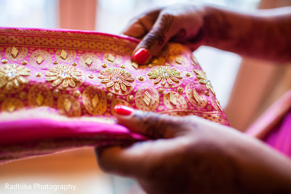 Getting Ready in Poughkeepsie, NY Indian Fusion Wedding by Radhika Photography