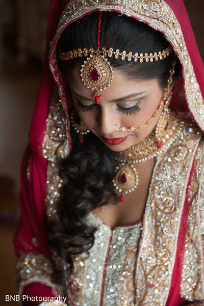 Bridal Portrait in Huntington, NY South Asian Fusion Wedding by BNB Photography