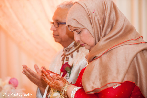 Ceremony in Huntington, NY South Asian Fusion Wedding by BNB Photography