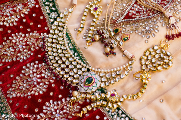Bridal Jewelry in Princeton, NJ Indian Wedding by Pandya Photography