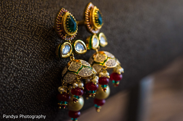 Earrings in Princeton, NJ Indian Wedding by Pandya Photography
