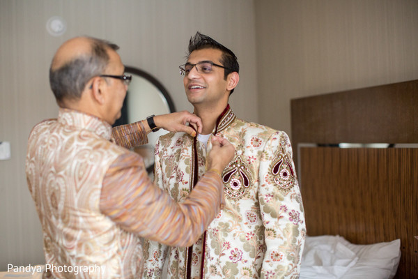 Groom Getting Ready in Princeton, NJ Indian Wedding by Pandya Photography