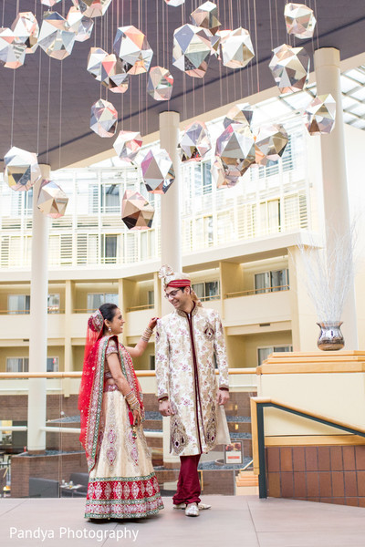 First Look in Princeton, NJ Indian Wedding by Pandya Photography