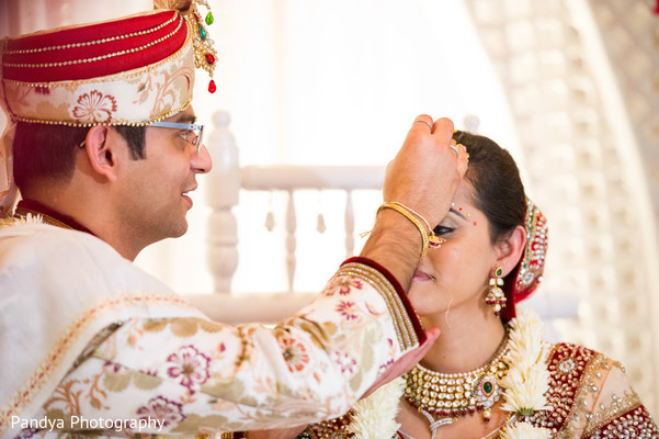 Ceremony in Princeton, NJ Indian Wedding by Pandya Photography