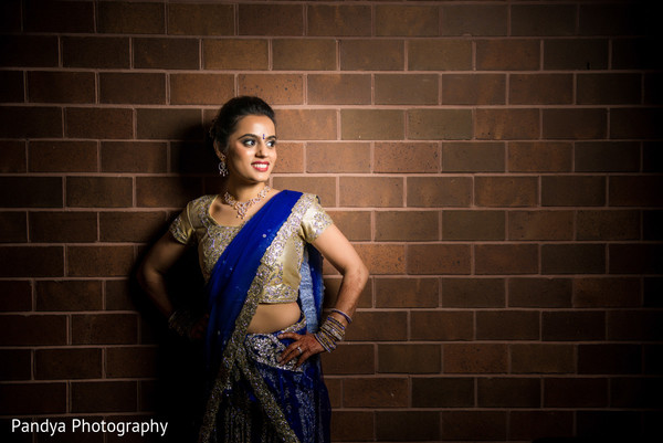 Reception Portrait in Princeton, NJ Indian Wedding by Pandya Photography