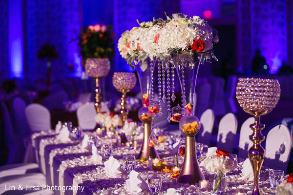 indian wedding reception floral and decor,floral centerpieces