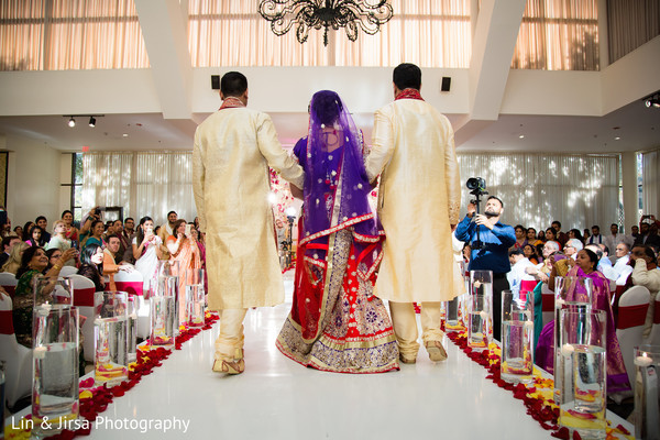 Ceremony in Dallas, TX Indian Wedding by Lin & Jirsa Photography