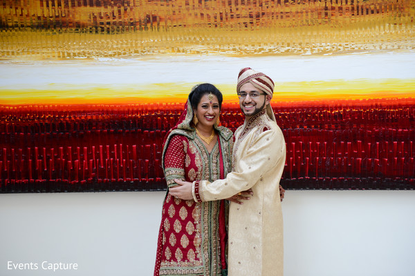 First Look in East Hanover, NY South Asian Wedding by Events Capture