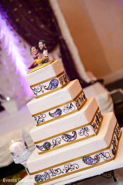 Wedding Cake in East Hanover, NY South Asian Wedding by Events Capture