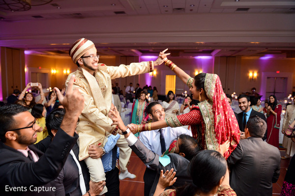 Reception in East Hanover, NY South Asian Wedding by Events Capture