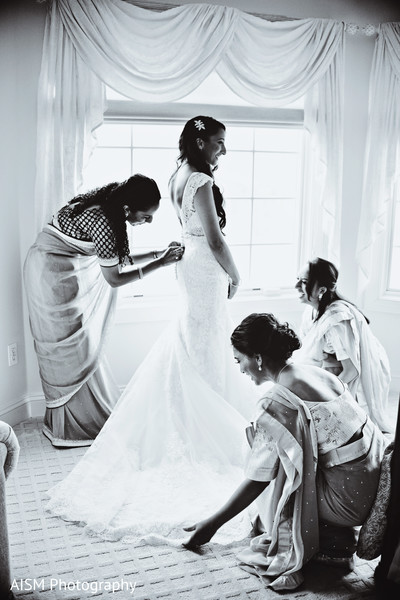 Getting Ready in Baltimore, MD Indian Fusion Wedding by AISM Photography