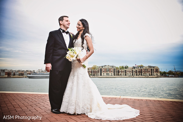 Wedding Portrait in Baltimore, MD Indian Fusion Wedding by AISM Photography
