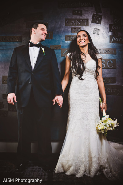 Reception Portrait in Baltimore, MD Indian Fusion Wedding by AISM Photography