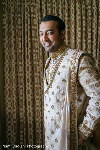 Groom Portrait in Miami, FL Indian Wedding by Nami Dadlani Photography