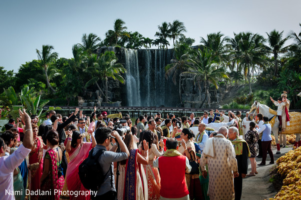 Baraat in Miami, FL Indian Wedding by Nami Dadlani Photography
