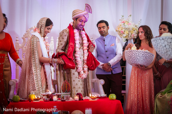 Ceremony in Miami, FL Indian Wedding by Nami Dadlani Photography