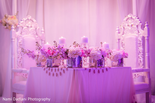 Sweetheart Table in Miami, FL Indian Wedding by Nami Dadlani Photography