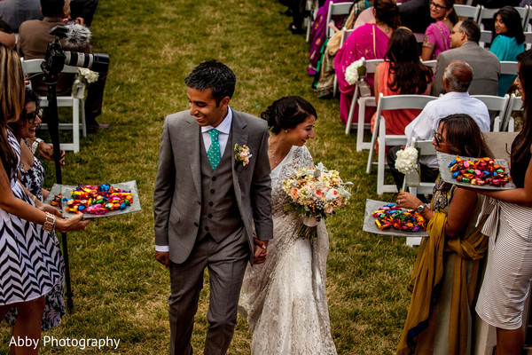 Ceremony in Kelowna, British Columbia, Canada Destination Indian Wedding by Abby Photography