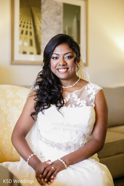 Bridal Portrait in Englewood, NJ Indian Wedding by KSD Weddings