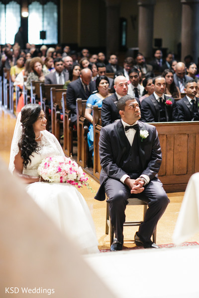 Ceremony in Englewood, NJ Indian Wedding by KSD Weddings