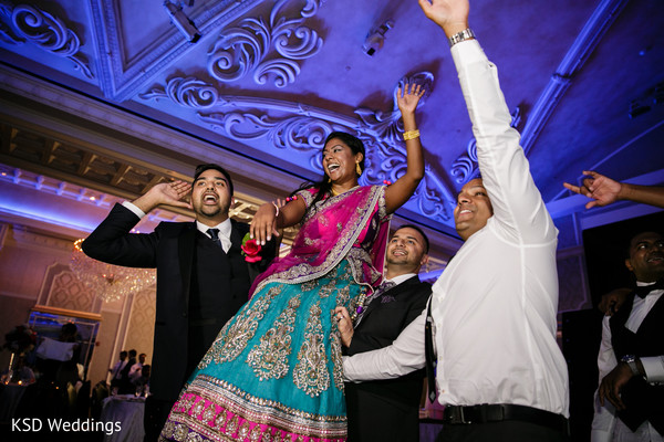 Reception in Englewood, NJ Indian Wedding by KSD Weddings