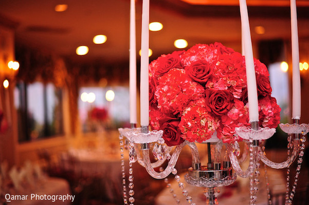 Centerpiece in Long Island, NY Sikh Wedding by Qamar Photography