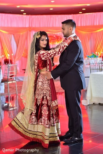 Reception Portrait in Long Island, NY Sikh Wedding by Qamar Photography