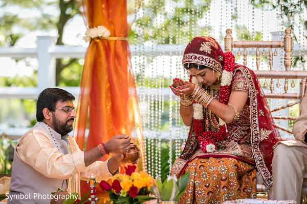 Ceremony in Wrentham, MA Indian Wedding by Symbol Photography