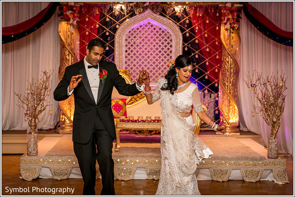 Reception in Wrentham, MA Indian Wedding by Symbol Photography