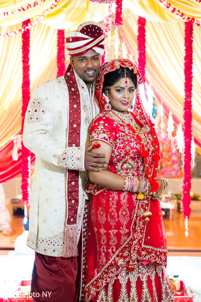 Portraits in Jamaica, NY Indian Wedding by MaxPhotoNY