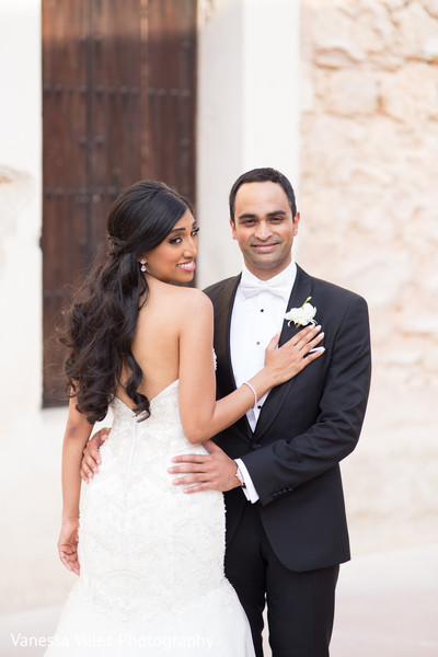 Portraits in San Juan, Puerto Rico Destination Indian Wedding by Vanessa Velez Photography